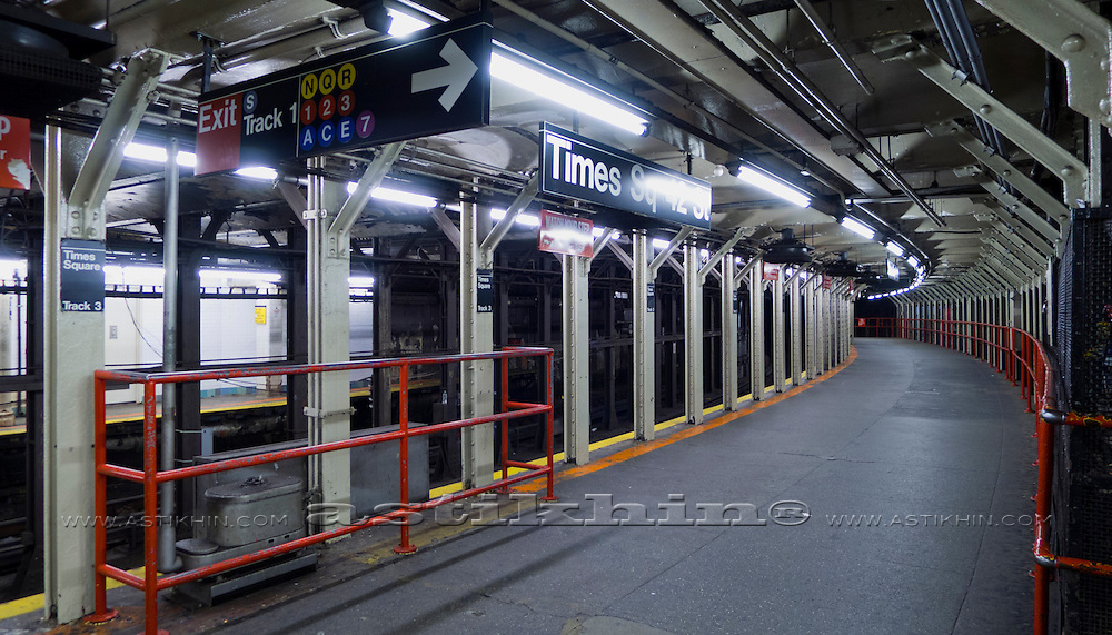 Subway in Manhattan, New York City, U.S.A.