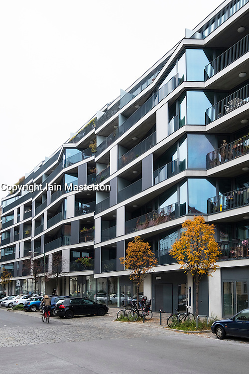 Modern residential apartment building development ay Pettenkoferstrasse in Friedrichshain , Berlin, Germany