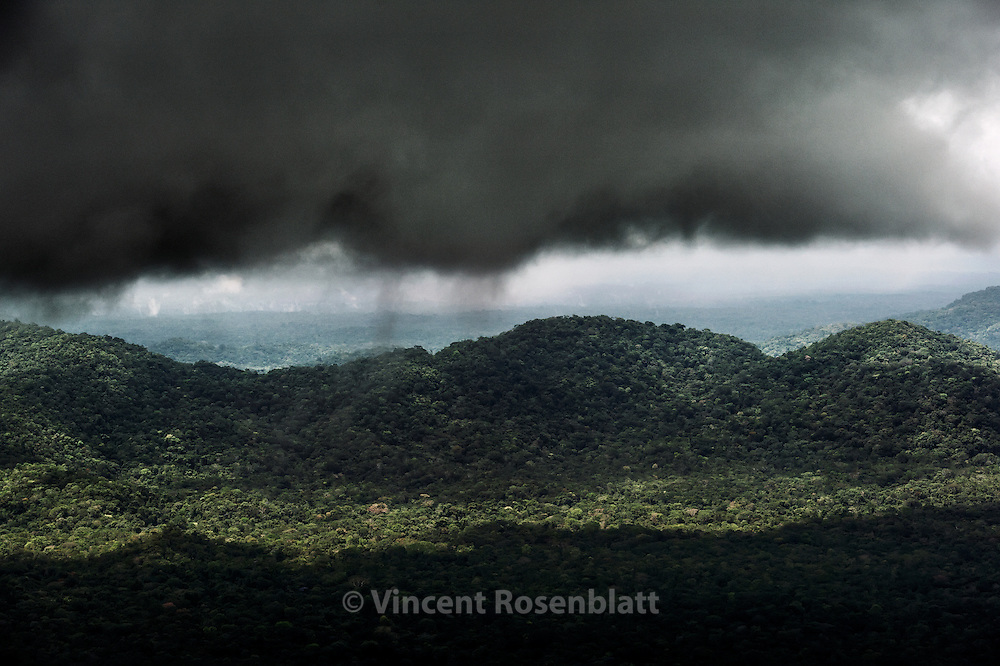 Flying over the Rain Forest, in the Yanomami Land