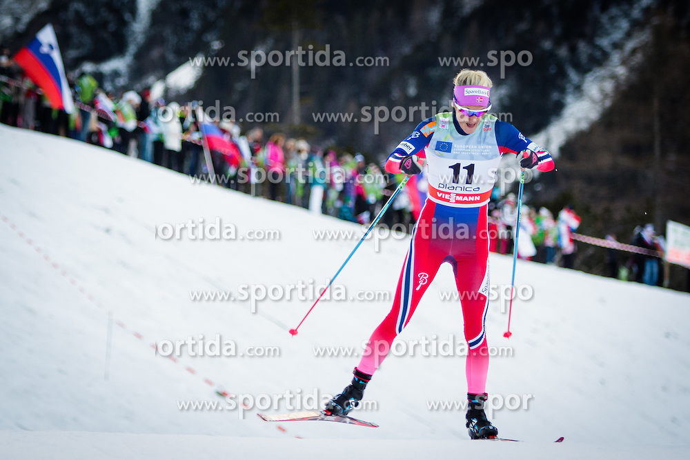 Kathrine Rolsted Harsem (NOR) during Ladies 1.2 km Free Sprint Qualification race at FIS Cross<br /> Country World Cup Planica 2016, on January 16, 2016 at Planica,Slovenia. Photo by Ziga Zupan / Sportida