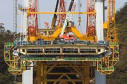 Cross section of steel superstructure of Megami bridge in Nagasaki Japan