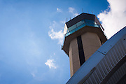 USA, Georgia, Atlanta. Control Tower at DeKalb-Peachtree Airport (PDK).