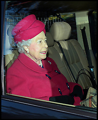 DEC 22 2013 HM The Queen attends church at Sandringham