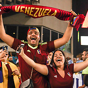 Venezuelan fans celebrate a Copa America Centenario Group C victory over Uruguay Thursday, June. 09, 2016 at Lincoln Financial Field in Philadelphia, PA.