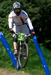 Johannes Fischbach of Germany at 5th European Championship in the 4-cross, on June 27, 2009, in Sport centre Pale, Ajdovscina, Slovenia. Due to bad weather conditions, the final part of the competition was cancelled. The results from the qualification part were called official. (Photo by Vid Ponikvar / Sportida)