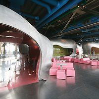 The lounge area at the restaurant at Centre Georges Pompidou in Paris, France.