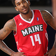Maine Red Claws Guard DAVON USHER (14) enters the game in the first half of a NBA D-league regular season basketball game between the Delaware 87ers and the Maine Red Claws  Friday, Feb. 05, 2016 at The Bob Carpenter Sports Convocation Center in Newark, DEL.