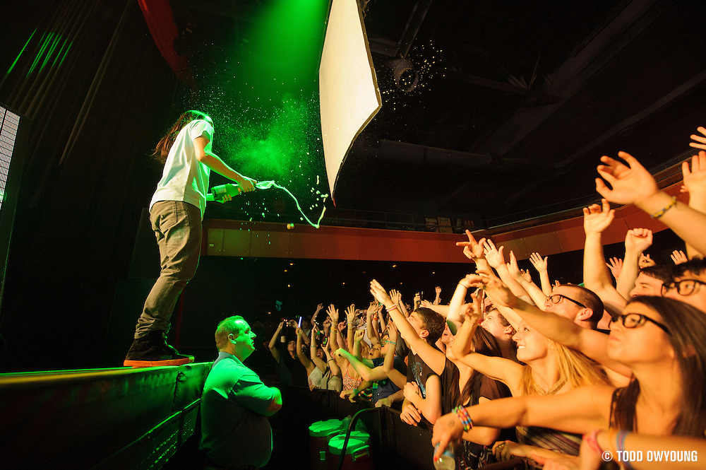 Atmosphere during Steve Aoki's performance at the Pageant in St. Louis on February 1, 2012. during Steve Aoki's performance at the Pageant in St. Louis on February 1, 2012.