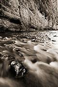 The Rio Grande River in Santa Elena Canyon, Big Bend National Park, Texas.