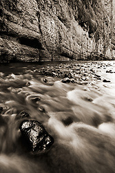 The Rio Grande River in Santa Elena Canyon, Big Bend National Park, Texas.
