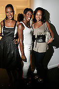 """Sandy Lomax, Traceye Smith, and Debbie Ascrate at The Bombay Sapphire & Vibe Magazine Present Ashanti's """"The Declaration"""" A Listening Party held at The W Hotel (West Street) on June 4, 2008"""