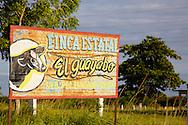 Farm sign near Mantua, Pinar del Rio, Cuba.