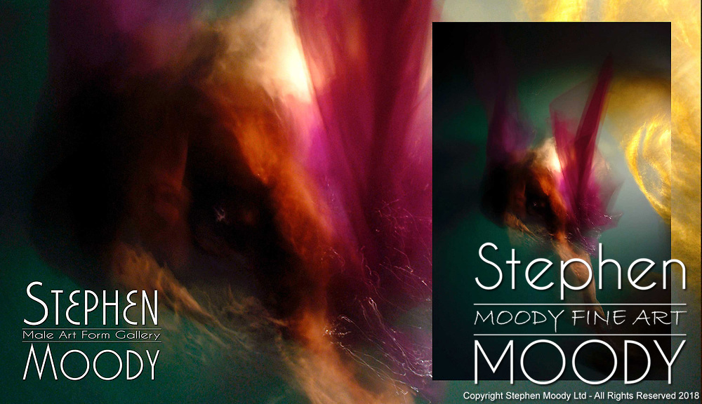 Wings of Angels - Abstract Art of the Male Form created by artist Stephen Moody of Scottsdale, AZ.  Large wall art for businesses, hospitality industry, interior designers and individual collectors - Male Art Form.