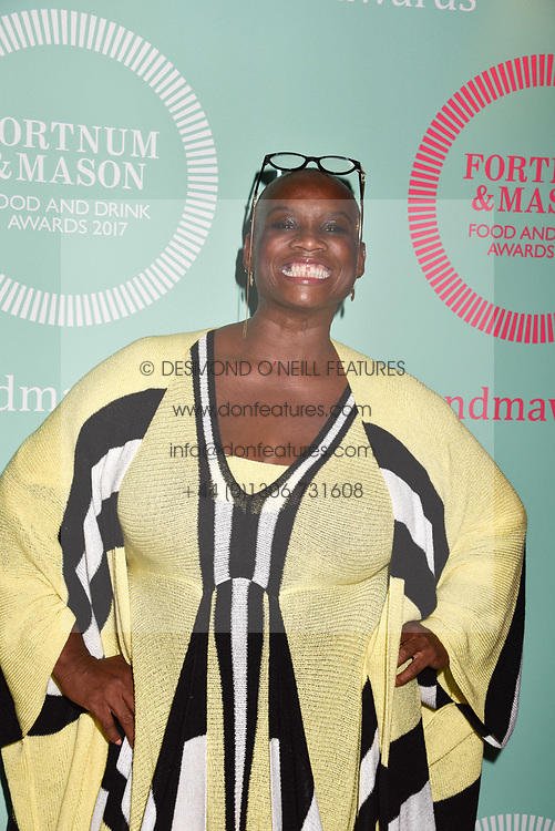 Andi Oliver at the 2017 Fortnum &amp; Mason Food &amp; Drink Awards held at Fortnum &amp; Mason, Piccadilly London England. 11 May 2017.<br /> Photo by Dominic O'Neill/SilverHub 0203 174 1069 sales@silverhubmedia.com