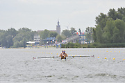 Brandenburg, GERMANY,  GBR BW2- , Bow Emily TAYLOR and Hannah ELSY, move away from the start at the 2008 FISA U23 World Rowing Championships, {idow], {date}, [Mandatory credit: Peter Spurrier Intersport Images]... Rowing Course: Brandenburg, Havel Rowing Course, Brandenburg, GERMANY