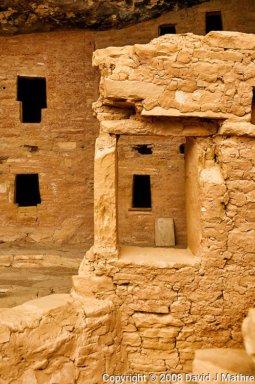 Window in a window at Spruce Tree House cliff dwelling.  Mesa Verde National Park. Image taken with a Nikon D3 camera and 80 mm VR lens (ISO 560, 31 mm, f/8. 1/250 sec).