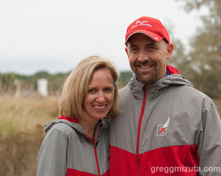 Meet officials Heidi & Ted Hamlin at the Bob Firman Invitational on September 27, 2014 at Eagle Island State Park, Eagle, Idaho.
