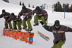 Snowskaters at the Minus 7 Melee contest, 2010 at Donner Ski Ranch.