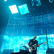 WASHINGTON, DC - June 3rd, 2012 - Thom Yorke and Colin Greenwood of Radiohead perform at the Verizon center in Washington, D.C.  It was the first time the band performed in the metro-D.C. area since their infamous show in the rain at Nissan Pavilion in 2008. (Photo by Kyle Gustafson/For The Washington Post)