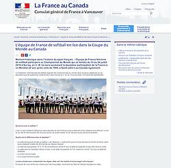Team France Women Softball, French Consulat website, 2016.