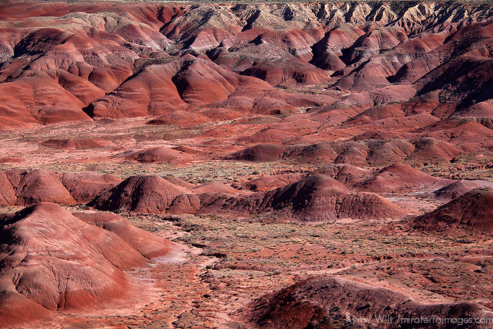 North America, USA, Arizona, Painted Desert. Painted Desert, part of the Petrified Forest National Park.
