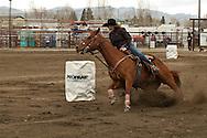 Barrel Racing, high school rodeo, Bozeman, Montana