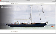 Website screen-shot of Ancasta Yachts featuring photography by Christopher Ison. <br /> Picture date: Monday April 25, 2016.<br /> Photograph by Christopher Ison &copy;<br /> 07544044177<br /> chris@christopherison.com<br /> www.christopherison.com