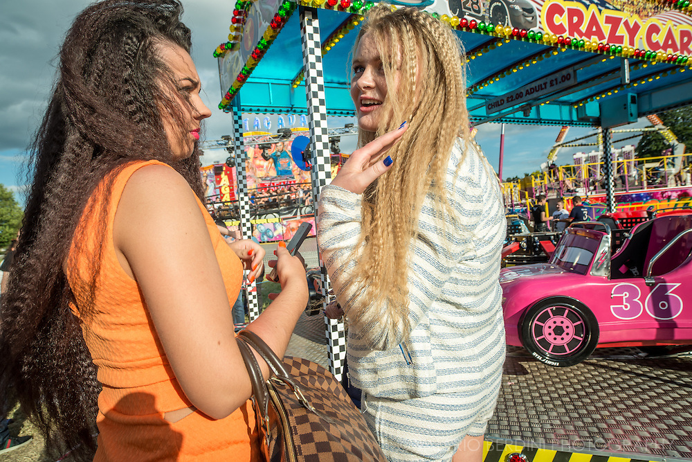 """""""Crimped hair"""" is the new black. Most of the girls have a journey to the hair and the beauty saloon the Saturday of the fair."""
