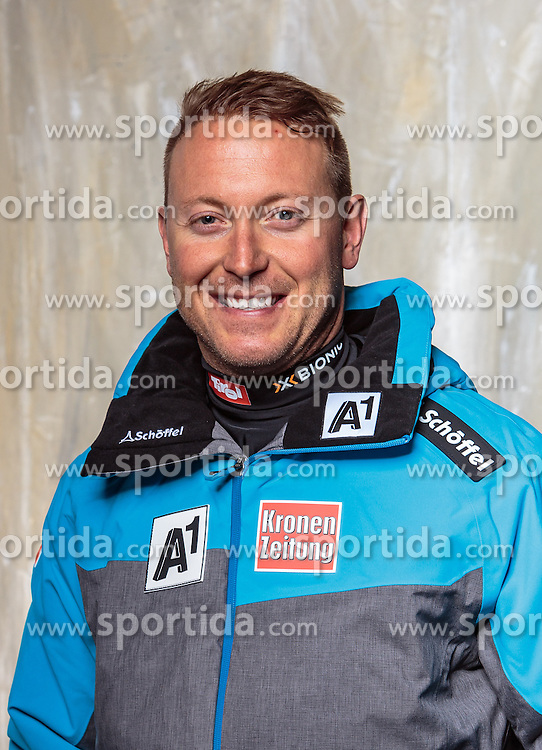 08.10.2016, Olympia Eisstadion, Innsbruck, AUT, OeSV Einkleidung Winterkollektion, Portraits 2016, im Bild Georg Mühlthaler, Ski Alpin Herren // during the Outfitting of the Ski Austria Winter Collection and official Portrait Photoshooting at the Olympia Eisstadion in Innsbruck, Austria on 2016/10/08. EXPA Pictures © 2016, PhotoCredit: EXPA/ JFK