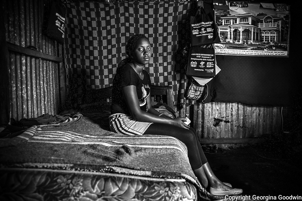 Moreen, aged 21. Raped at the age of 14 just outside the Mugumoini area she has yet to tell anyone except her best friend. <br /> This image is from a series focusing on and around the rape and the women victims that occur every half a day in Mugumoini Village in Nairobi's Southlands, a slum home to 20,000 people in abject poverty with little or no income, with the aim of creating exposure and empowerment for change. &copy;GGoodwin