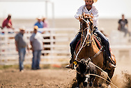 Rocky Boy Rodeo-Indian cowboys-Tie Down Roping-calf roping-Rocky Boy Reservation-Montana-Britt Givens