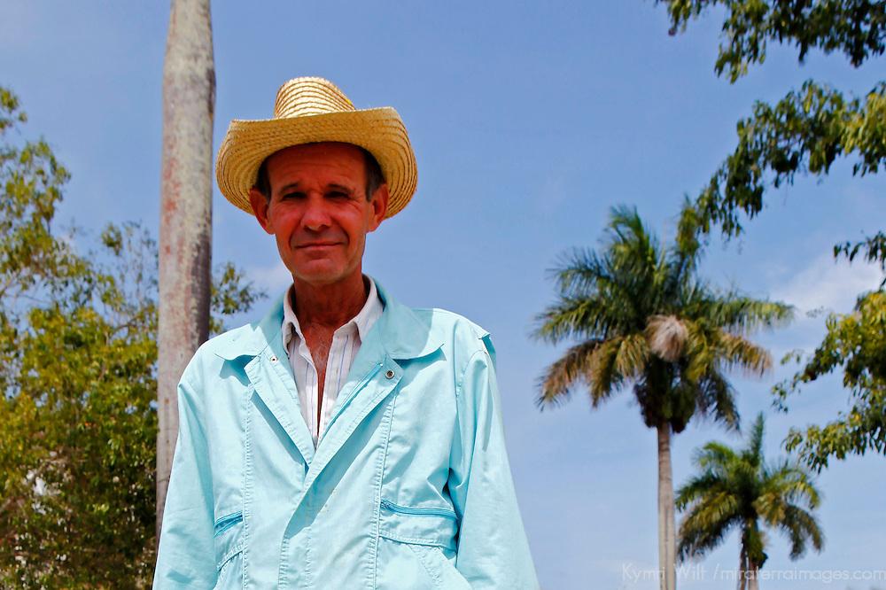 Central America, Cuba, Vinales. Local Cuban man of Vinales.