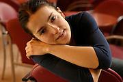 26.03.2006 Warszawa. Aktorka Kamilla Baar w foyer Teatru Wielkiego (Scena przy Wierzbowej). Fot. Piotr Gesicki. Kamilla Baar polish actress in theater foier Photo Piotr Gesicki