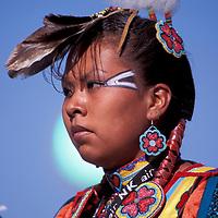 Pow Wow Dancer, North American Indian Days, Browning, Blackfeet Indian Reservation, Montana, USA