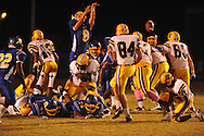Oxford High's Franklin Tatum (8) blocks a extra point attempt vs. Hernando in Oxford, Miss. on Friday, October 14, 2011. Hernando won 31-30 in overtime.