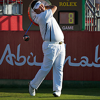 19.01.2013 Abu Dhabi, United Arab Emirates.  Prom Meesawat in action during the European Tour HSBC Golf championship  third round from the Abu Dhabi Golf Club.