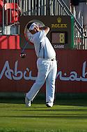 19.01.2013 Abu Dhabi, United Arab Emirates.  Prom Meesawat in action during the European Tour HSBC Golf championship  third round from the Abu Dhabi Golf Club.