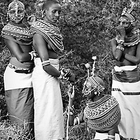 Local women in traditional dress, Samburu, Kenya