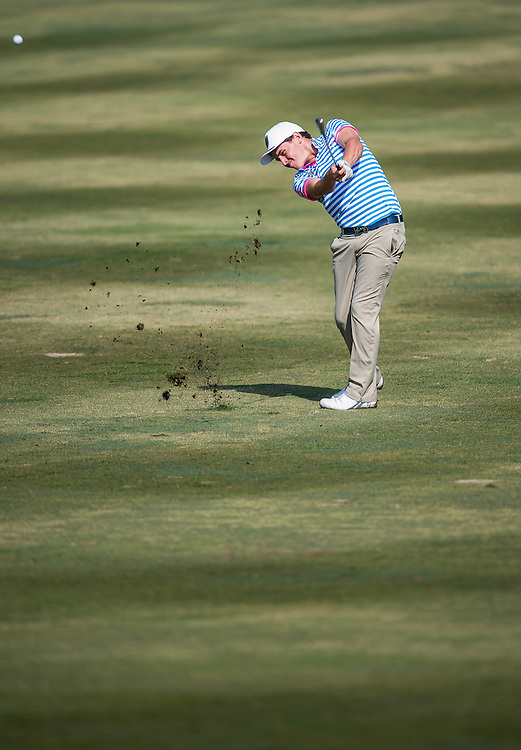 Matthew McLean of New Zealand in action during day two of the 10th Faldo Series Asia Grand Final at Faldo course on 03 March of 2016 in Shenzhen, China. Photo by Xaume Olleros.
