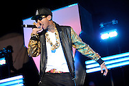 Tyga performing in support of Chris Brown on the FAME Tour 2011 at the Verizon Wireless Amphitheater on September 24, 2011.