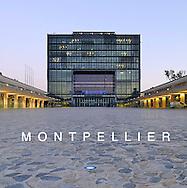 France, Languedoc Roussillon, Hérault Montpellier, quartier Port-Marianne, mairie, hôtel de ville, architectes: Jean Nouvel et François Fontès