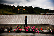 The memorial and gravesite for Muslim victims of the Srebrenica genocide.