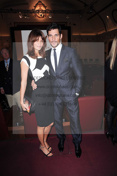 HELENA CHRISTENSEN and DAVID GANDY at a screening of the short film 'Away We Stay' directed by Edoardo Ponti held at The Electric Cinema, Portobello Road, London W1 on 15th November 2010.