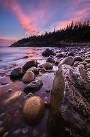 Sunset at Hunter's Beach in Acadia National Park, Maine.