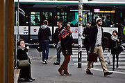 Street scene at Gare d`l Est in Paris, France, three weeks after the terror attacks of November 13, 2015.<br /> <br /> &copy;peter-juelich.com