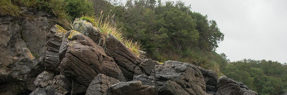 craggy rocks along the Katmai Coast<br /> LIMITED EDITION PRINT