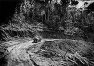 All-terrain vehicles, or ATV's, tear up the rainforest soil and converting rudimentary roads into wide, muddy quagmires, impassable by any ordinary vehicle, including four-wheel drive trucks in Maroon territory.  Migrant Brazilian gold miners have set up an ATV taxi service between Bensdorp and the next village about 10 kilometers (6.2 miles) away through the rainforest for the price of one gram of pure gold or Euro 40.  Gold, carried in waist pouches, is the preferred currency.  Then Euros are favored hard currency because the rainforests of French Guiana right across the Marowijne River are part of the Euro zone, followed by the U.S. dollar and finally, begrudgingly the humble national currency, the Suriname dollar.