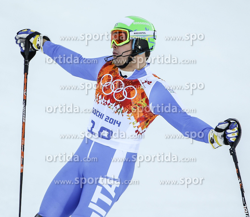 14.02.2014, Rosa Khutor Alpine Center, Krasnaya Polyana, RUS, Sochi, 2014, Super- Kombination, Herren, Slalom, im Bild Christof Innerhofer (ITA) // Christof Innerhofer of Italy during the Slalom of the mens Super Combined of the Olympic Winter Games 'Sochi 2014' at the Rosa Khutor Alpine Center, Krasnaya Polyana, Russia on 2014/02/14. EXPA Pictures &copy; 2014, PhotoCredit: EXPA/ Minkoff<br /> <br /> *****ATTENTION - OUT of GER*****