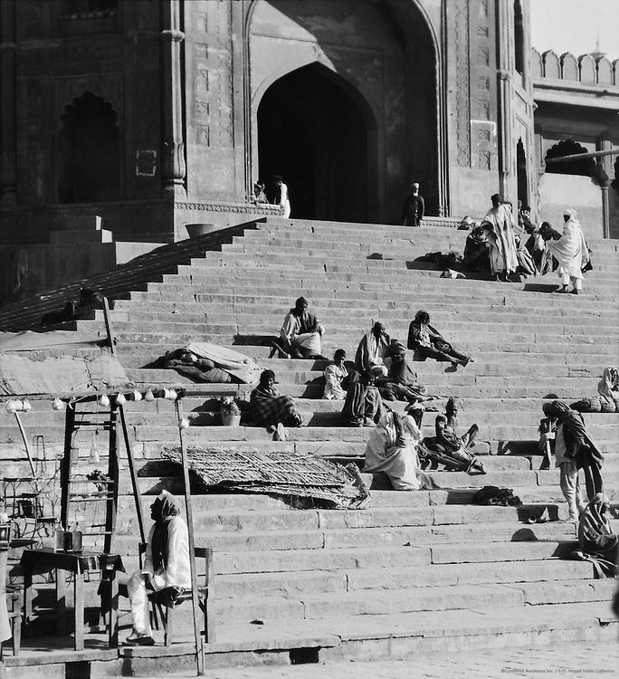 Steps of Jumma Mosque, Delhi, India, 1929