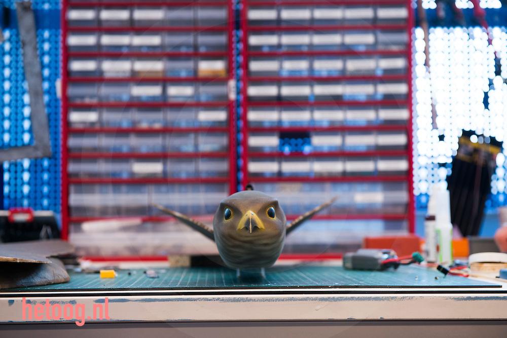 The Netherlands, Nederland Enschede 25june2015 het bedrijf Clear Flight Solutions (CFS) heeft, samen met andere startups, onderdak gevonden bij Demcon in Enschede. Demcon had ruimte over en heeft enkele startups onderdak geboden, waardoor kruisbestuiving kan ontstaan in de technieksector. CFS ontwikkelt o.a. een robotvogel. de andere startups zijn 'Q-Micro' (vloeistofdynamica), '52 degrees North' een app ontwikkelaar en 'Bubclean' (ultra sonisch reinigen'